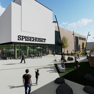 Flaget og Oxer Eiendom utvikler Hokksund sentrum