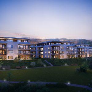 Boligprosjektet Pålsøya Park i Drammen – Over 50% solgt i byggetrinn 3